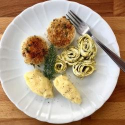 44. cipolle gratinate con crema di patate e rolls alle erbe di Anna Maria B.