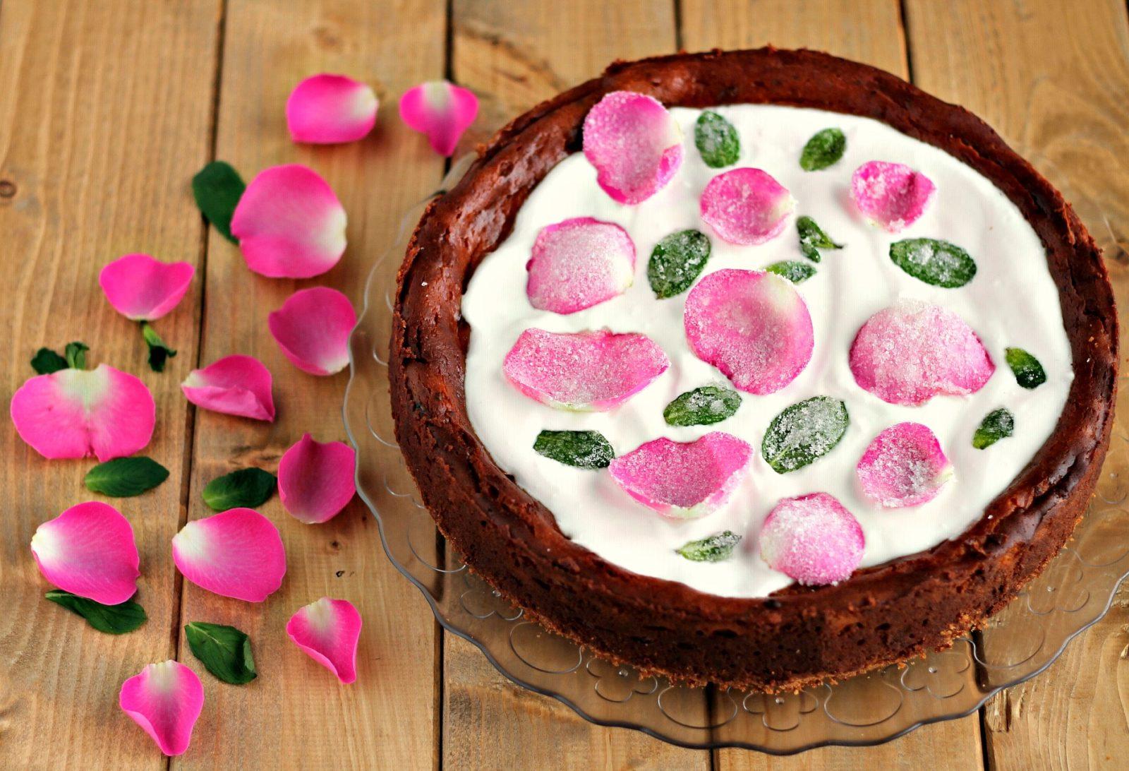 cheesecake alla rosa e menta
