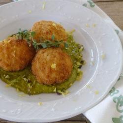 9. crocchette di riso e triglie con crema di pistacchio e limone di Therese
