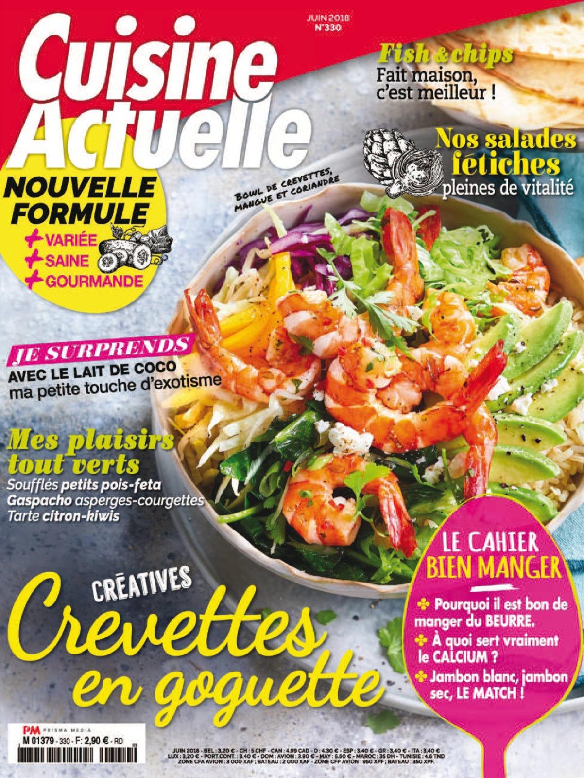 Cuisine Actuelle No. 330 - Juin 2018