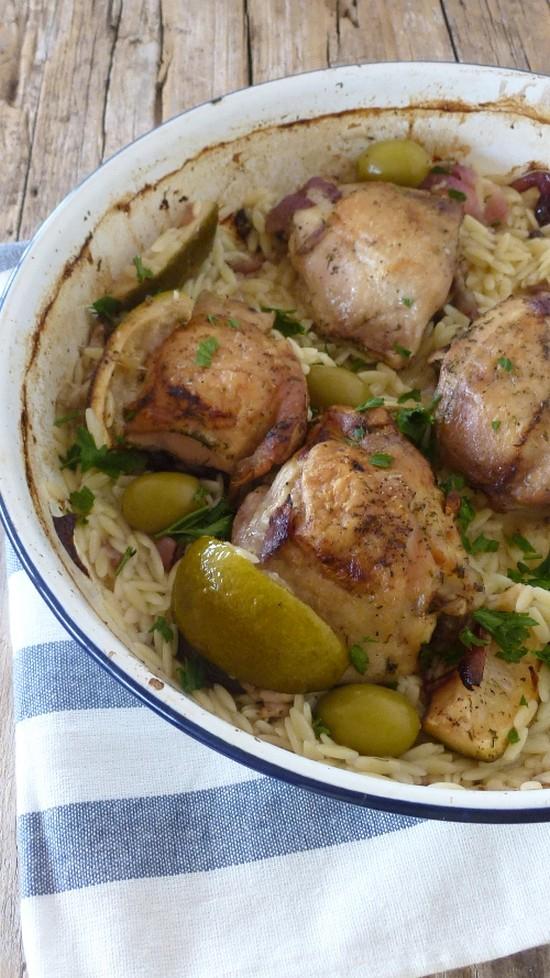 Pollo al forno con limonim
