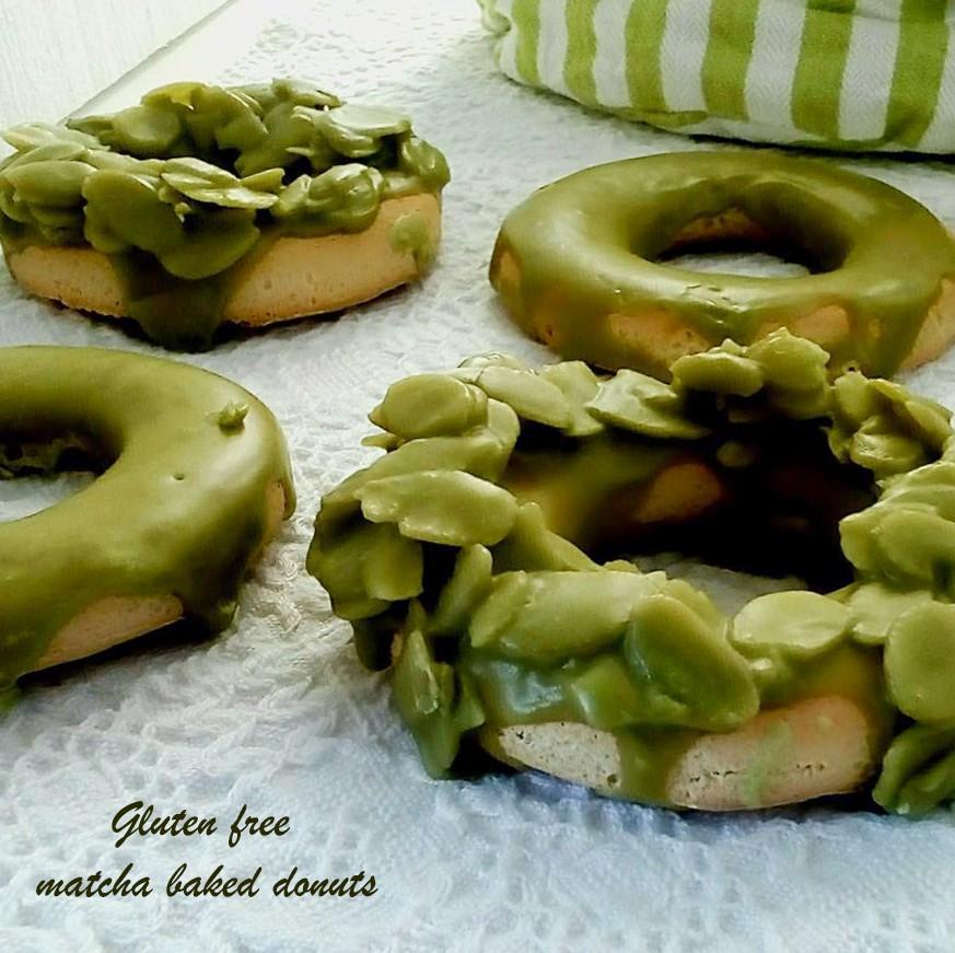 glutemfreematchabaked donuts