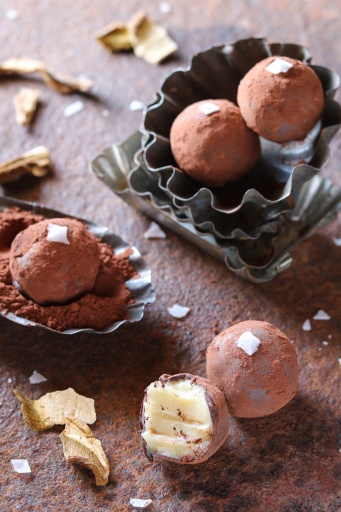 tartufini cioccolato bianco e porcini