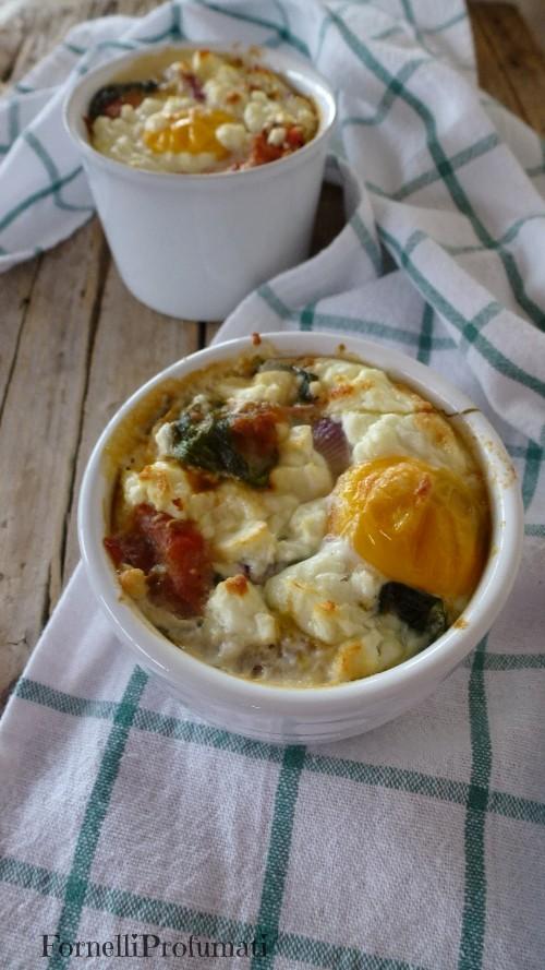 uovo spinaci e pomodoro