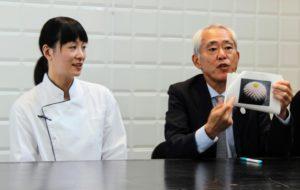il Console Tominaga con la maestra Fujita