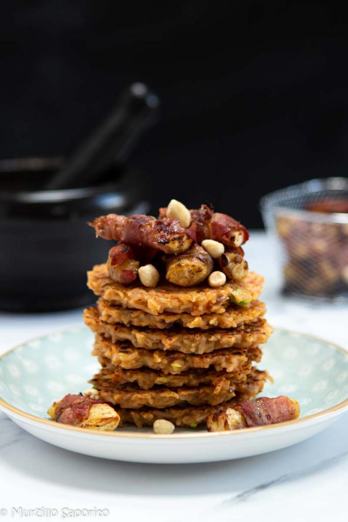 37. Valeria Caracciolo, rice pankakes and bacon wrapped kelewele