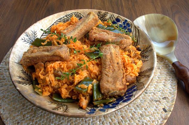 39. Giuliana, red rice piattoni e maiale fritto