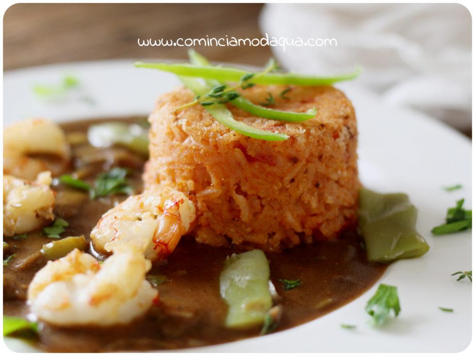 47. Elena A, sformatino di red rice con gumbo