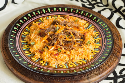 50. Manuela V, red rice cons tracotto e carote al sesamo