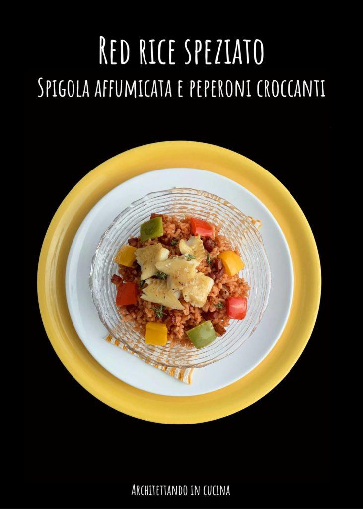 51. Sabrina F, red rice speziato, spigola affumicata e peperoni croccanti