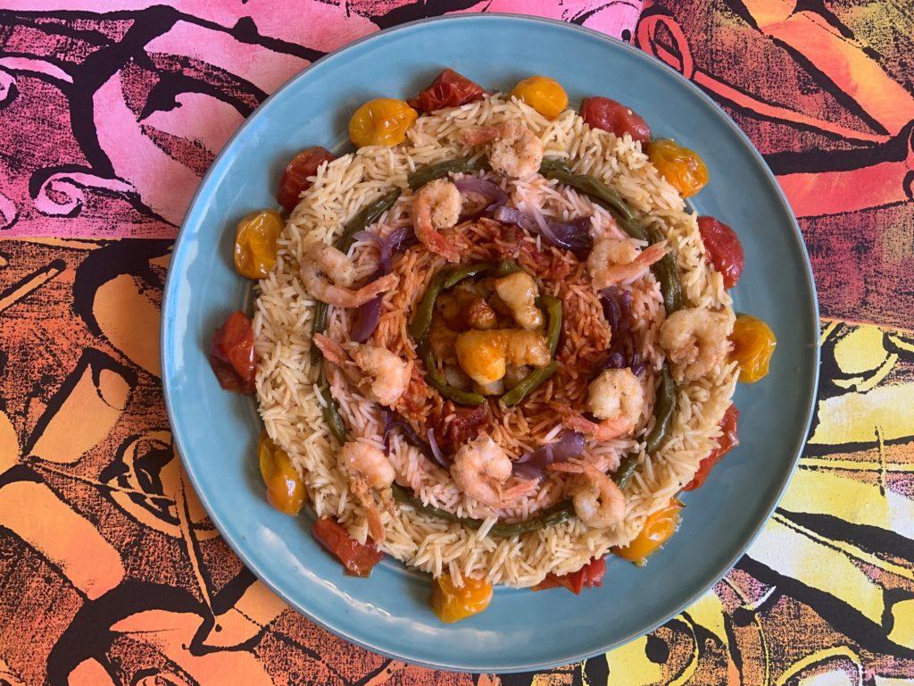 54. Tina, basket red rice