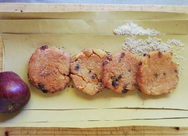 55. Francesca, frittelline di red rice con mele e uvetta