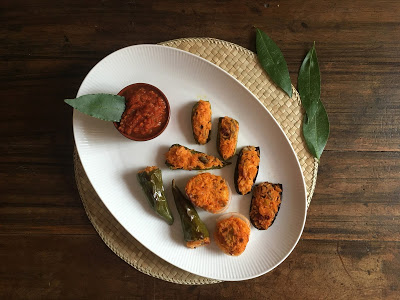 60. Manuela O, verdure ripiene di riso rosso con salsa piccante