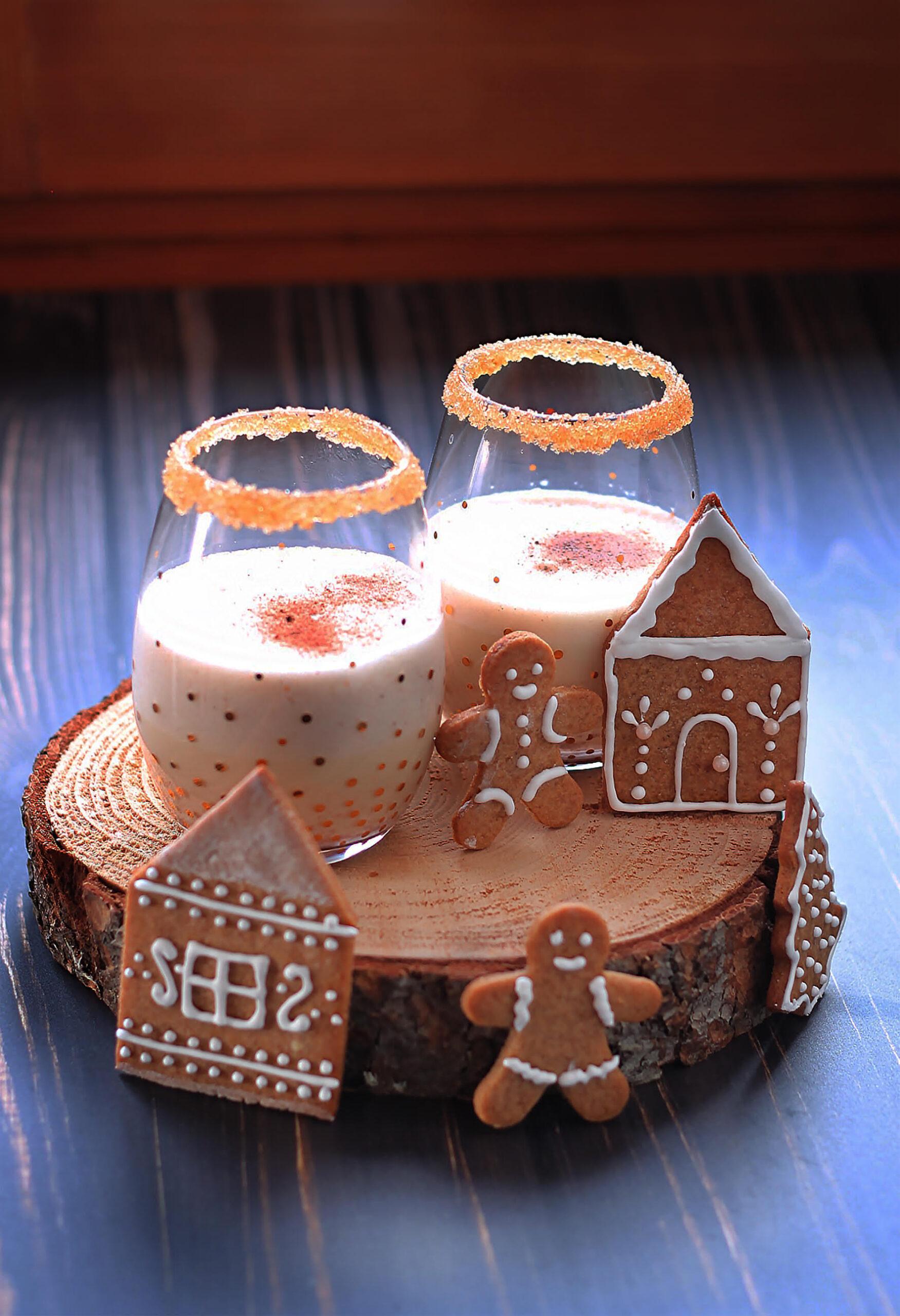 Eggnog con gingerbread
