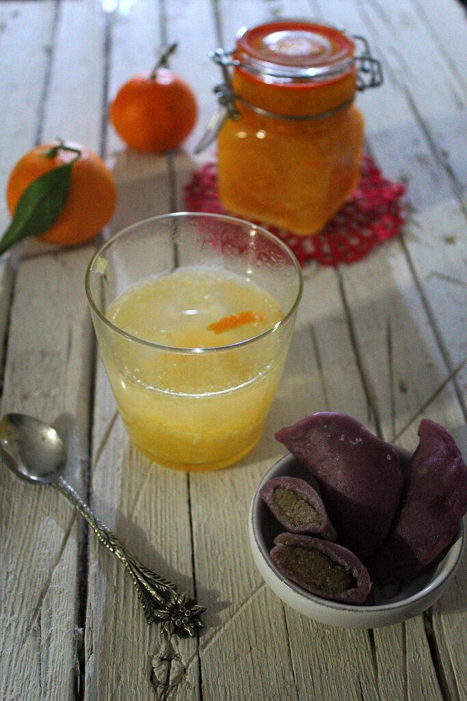Tangerine Tea della Corea del Sud con Songpyeon